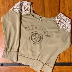 Free People Clear View Graphic Sweatshirt